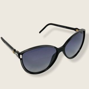 Balenciaga 0104 Sunglasses Cat Eye Black Butterfly